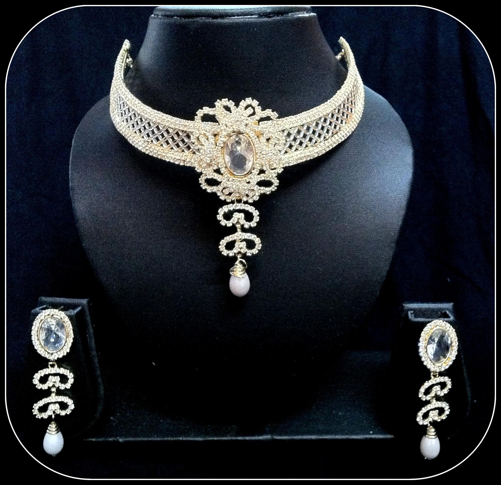 Diamond Necklace & Earring